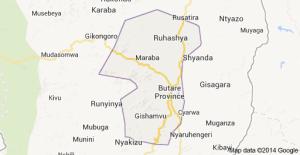 Huye district map